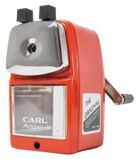CARL Angel-5 Manual Pencil Sharpener Heavy Duty Quiet For School Home And Office / Red