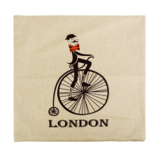 Generic Cartoon England Bycicle Cotton Linen Throw Pillow Case Cushion Cover Decor