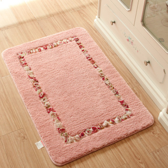 Cheap Fashion Pastoral Thicken Floor Mats Handmade Bathroom Kitchen Carpet House Doormats For Living Room Anti-Slip Rug