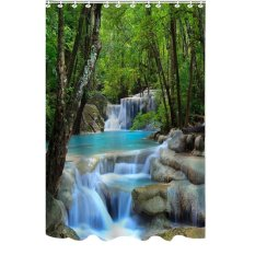 Cocotina Creative Home Decoration Waterfalls Scenery Shower Curtain Bathroom Accessories