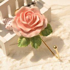 Cocotina Vintage Home Decor Wall Mounted Hat Coat Robe Hook Door Bathroom Towel Clothes Hanger – Rose Shape (Intl)