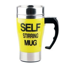 Comfkey Coffee Mug - Self Stirring, Electric Stainless Steel Automatic Self Mixing Cup - Cute & Funny, Best For Morning, Travelling, Men And Women (Yellow) - Intl