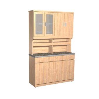 Creova lemari dapur set kitchen set natural lazada for Kitchen set lampung