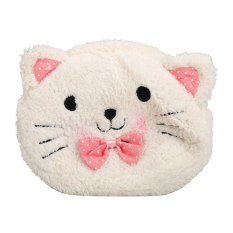 Cute Cartoon Cat Shape Soft Plush Cosmetic Makeup Bag Pouch Pen Pencil Case (Intl)