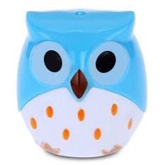 Cute Novelty Cool Funny Cartoon Owl Shape Two-Hole Pencil Sharpener School Gift For Kids Teens (BLUE)