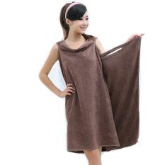 Linemart Microfiber Towels Soft Magic Towel Bathrobes Bath Skirt Beach (Coffee)