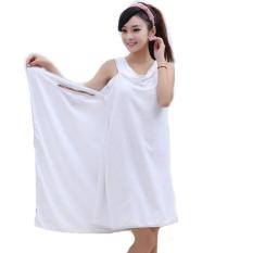 Linemart Microfiber Towels Soft Magic Towel Bathrobes Bath Skirt Beach (White)