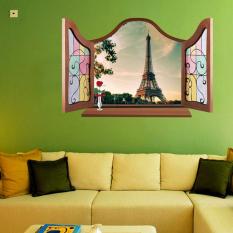 Dinding Seni Stiker Type C PVC Dekorasi Kertas Dinding Tahan Air Yang Dapat Dilepas