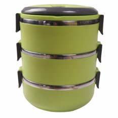 Dinemate Eco Lunch Box Stainless Steel Rantang 3 Susun - Hijau