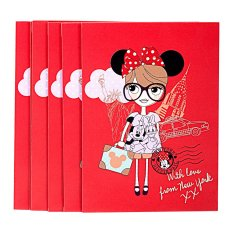 Disney Minnie Mouse Little fans with love from New York Red Envelope (pack of 6)