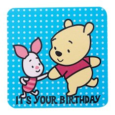 Disney Winnie The Pooh & Piglet- It's Your B'day Blue Mini Gift Card