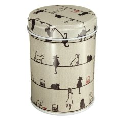Double Cover Tea Storage Tins Canister Box Caddy Sugar Candy Coffee 10