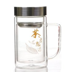 Double-Insulated Glass 350Ml (Black / Clear) - Intl