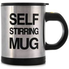 Double Insulated Self Stirring Mug 400ml Electric Coffee Cup (Black) (Intl)