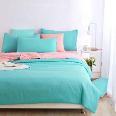 Double Side Use 2017 Spring Bedding Set Brief Style Bed Linens 5 Size Zebra-stripe Bed Sheet Microfiber Brushed Bed Set Bedding (Queen) - Intl