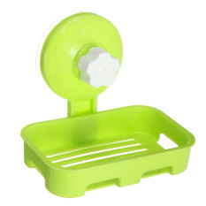 Durable Plastic Bathroom Shower Strong Suction Cup Soap Dish Tray Wall Holder Green