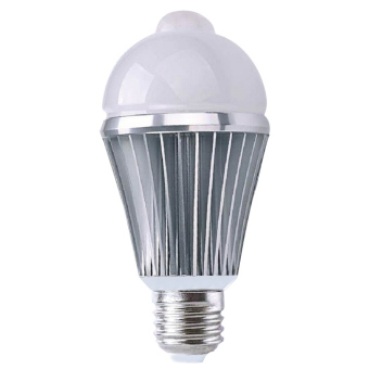 E2.5W PIR Motion Sensor Security Flood Projection Bulb Light Lamp Floodlight Bulb Warm White Light