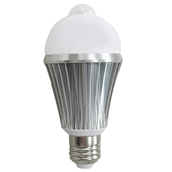 E2.7W PIR Motion Sensor Security Flood Projection Bulb Light Lamp Floodlight Bulb Warm White Light