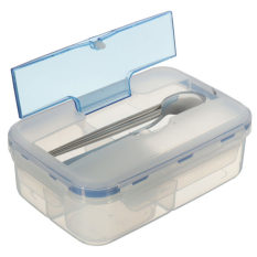 EGC Hot Selling Modern Ecofriendly Outdoor Portable Microwave Lunch Box With Soup Bowl Chopsticks Spoon Food Containers 1000mL - Intl