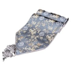Elegant Embroidered Plum Blossom Brocade Table Runner Chinese Style Gray (Intl)