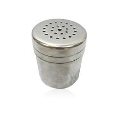 ELENXS Salt Pepper Seasoning Stainless Steel Condiment Cruet (Silver)