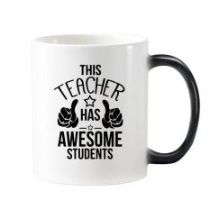 English Alphabet Thumbs To Praise Teacher And Student Present Pattern Morphing Heat Sensitive Changing Color Mug Cup Gift Milk Coffee With Handles 350 Ml - Intl
