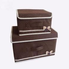 EZY 2-in-1 Kotak Penyimpanan Multifungsi (Coffee Brown)