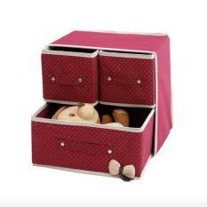EZY 2-in-1 Kotak Penyimpanan Multifungsi (Merah Maroon) (Maroon)