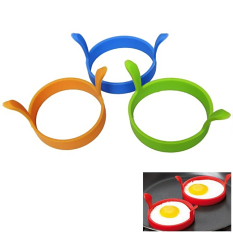 Fancytoy Silicone Kitchen Egg Fry Fryer Fried Oven Pancake Mould Tool Poach Ring