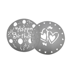 Fang Fang Flower Heart Style Cake Fondant Mold Mould Decorating Baking Sugarcraft Mold (Silver) (Intl)
