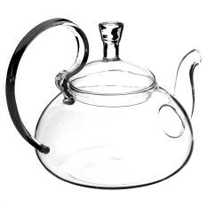 Filter Transparent Glass Flower Tealeaf Teapot Heat Resistant Infuser 800ml