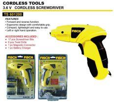 FISCH Mesin Bor Obeng Baterai Cordless Screwdriver TS601200 - Kuning