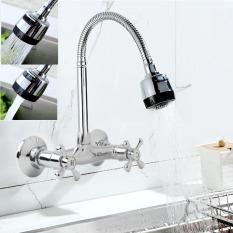 Fleksibel Spring Terpasang Di Dinding Dapur Wastafel Cerat Pentil Krom Mixer Keran Semprotan - Internasional
