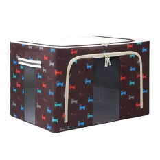 Foldable Non-Woven Fabrics Room Bag Clothes Blanket Storage Box Home Organizer Brown (Intl)