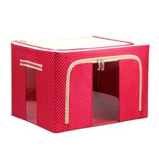 Foldable Non-Woven Fabrics Room Bag Clothes Holder Blanket Storage Box Organizer Red (Intl)