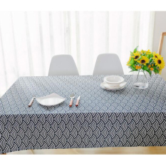 FRD Cotton Style Blue Stripe Table Cloth High Quality Tableclothtablecover For Picnic Or Family Dinner - Intl
