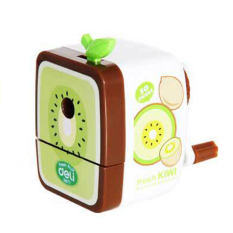 Fruits Pencil Sharpener Hand Crank Manual Desktop School Stationery Kids Kiwi