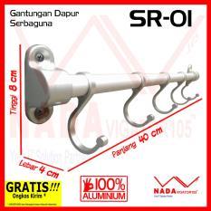 Gantungan Dapur Aluminium Serbaguna SR-01 Jemuran Panci/ Centong