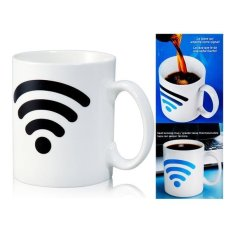 Generic Wifi Signal Design Color Changing Ceramic Cup (White)