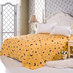 GoGoLife Star&Moon Cotton Bed Sheet All Size-13-4# Yellow