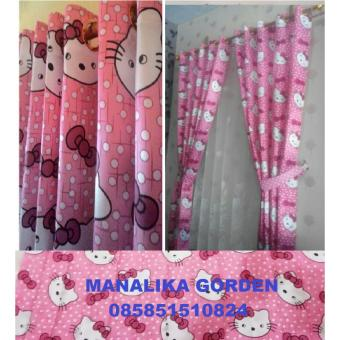 gorden jendela pintu hello kitty