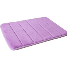 Gracefulvara 40x60cm Memory Foam Bath Mat Absorbent Non-Slip Pad Bathroom Mats – Purple