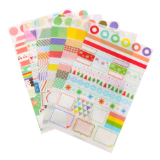 Gracefulvara 6 Pcs Calendar Paper Sticker Scrapbook Diary Sticker Notes Planner Decor