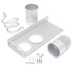 Hair Dryer Storage Organizer Rack Comb Holder Wall Mounted Stand Bathroom Set - Intl