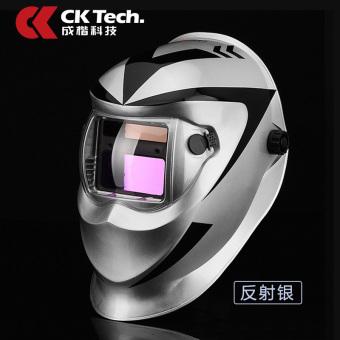Headset sepenuhnya otomatis tukang las topi kaca mata topeng las