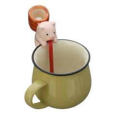 Hewan Mini diri penyiraman pekebun penyerapan air Pot tanaman Bonsai dekorasi rumah tikus (kemangi) - International