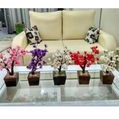 Hiasan Meja Ruang Tamu Bunga Sakura Mini