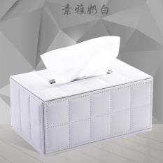 High Grade European Leather Paper Towel Box, Creative Fashion Paper Towel Box, Living Room, Napkin Box - Intl