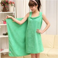 High Water Absorption Women's Wearable Bath Towel 150*85CM Bathrobe Spa Fast Dry Washclothing Wrap Towel Green