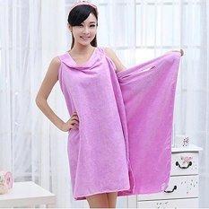 High Water Absorption Women's Wearable Bath Towel 150*85CM Bathrobe Spa Fast Dry Washclothing Wrap Towel Purple